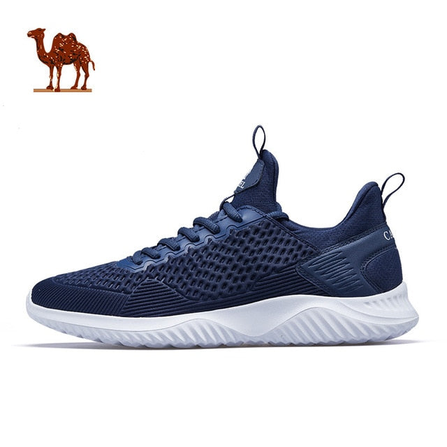 CAMEL Men's Running Shoes Lightweight Off-white Comfortable Men Sneakers Men Breathable Sport Shoes For Outdoor Sports