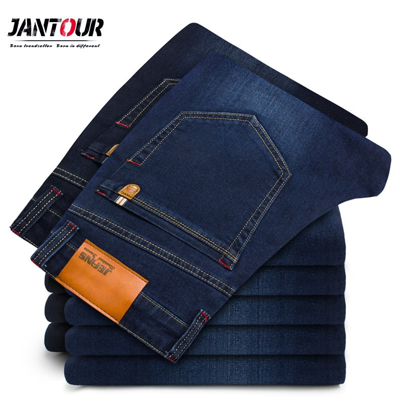 2018 New Autumn Winter Jeans Men High Quality Famous Brand Denim trousers soft mens pants men's fashion Large Big size 40 42 44