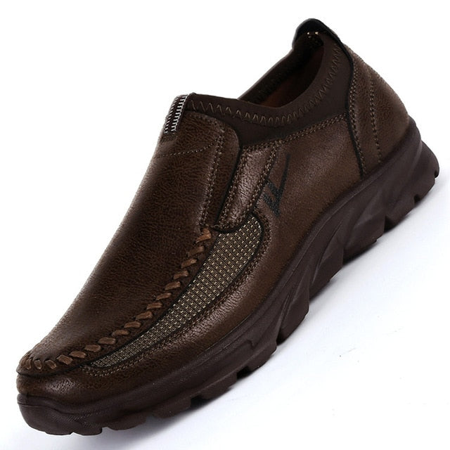 Hot Sale Winter Shoes Men Slip-On Breathable Soft-Soled Fashion Casual Light Flat Men'S Loafers Luxury Brand Flats Male Shoe
