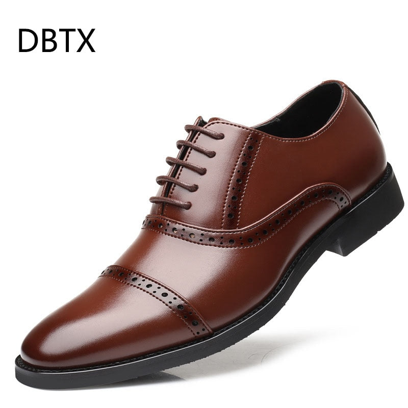 luxury Brand Classic Man Pointed Toe Dress Shoes Mens Patent Leather Black Wedding Shoes Oxford Formal Shoes Big Size 637