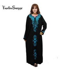 1pcs/lot free shipping Muslim black abaya islamic clothing for women embroidery dubai kaftan robe dress turkish abaya 4 Colors