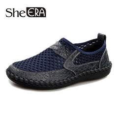 2019 Men shoes breathable genuine leather casual shoes men brand soft
