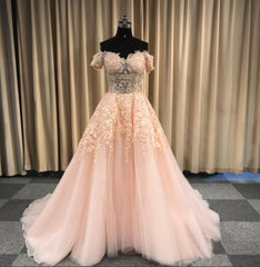 Leeymon Elegant Lace Off Shoulder Prom Dress Red Crystal Evening Dress 2019 Ball Gown Party Dress for Wedding LY1161