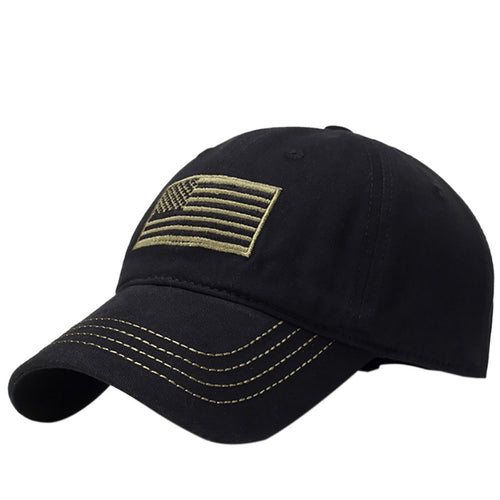 Tactical US flag hat - Black