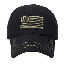 Load image into Gallery viewer, Tactical US flag hat - Black