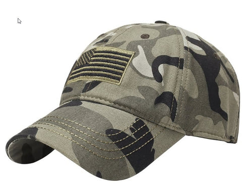 Tactical US flag hat - Camo