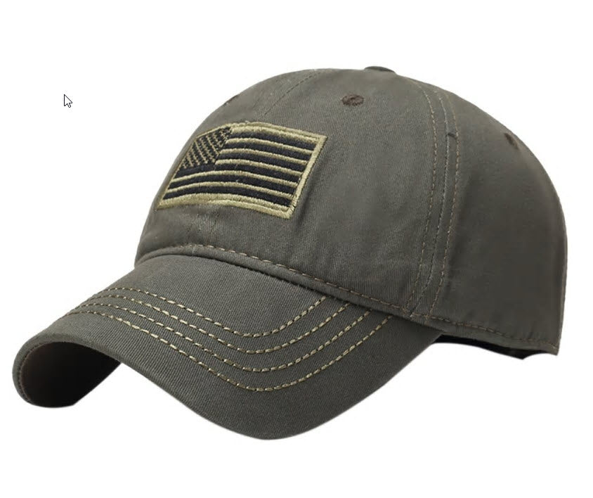 Tactical US flag hat - Olive drab