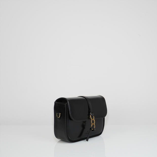 Mandel Box Bag Glossy Black