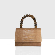 Almond Bag Mini Beige Croc