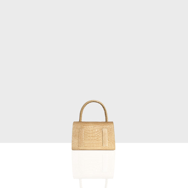 Almond Bag Nano Beige Croc