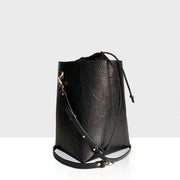 Bucket Bag Mini Black Lizard Mat