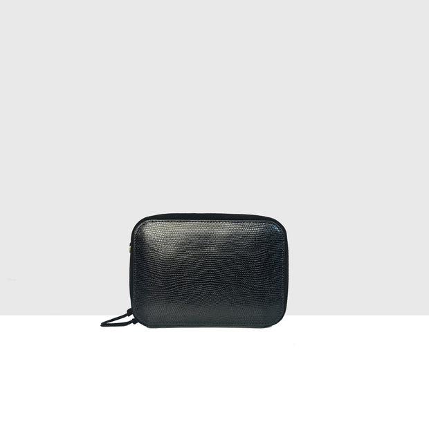 Mandel Bag Black Lizard