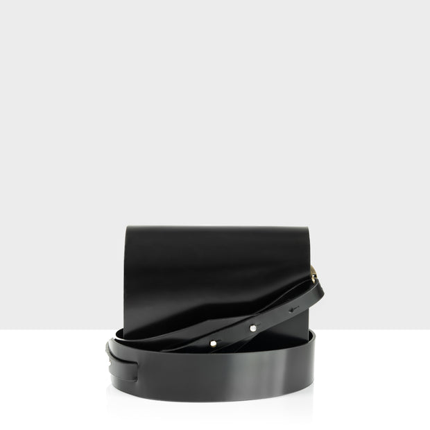 Flap Bag Mini Glossy Black