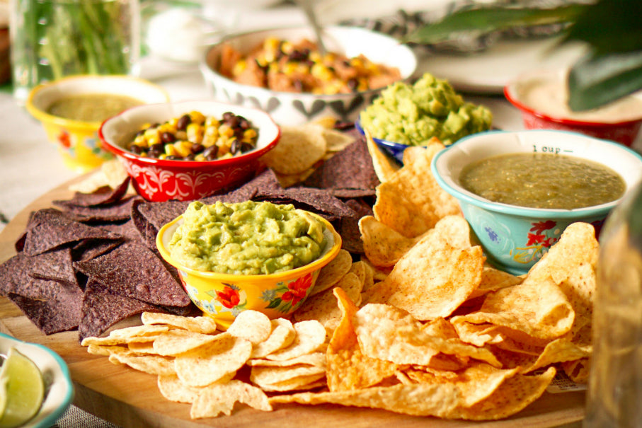3 guacamole & dips for Cinco de Mayo