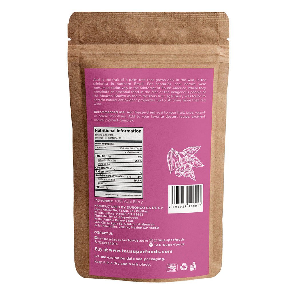 Organic Lyophilized Acai Berry 100g