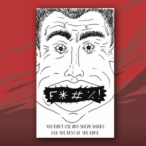 F*#K card with picture of angry man
