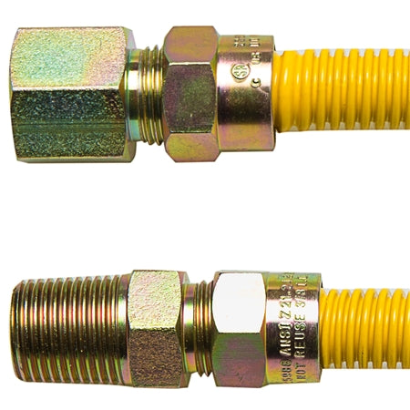 "Gas Connector Yellow Coated - 3/8"" Diameter"