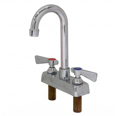 "4"" Commercial Bar Faucet w/5"" Gooseneck Spout ( NO LEAD ) (2.58 lbs)"