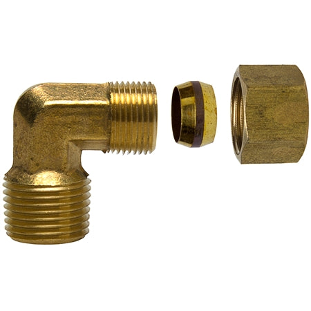 Brass Elbow - Male Pipe Thread x Compression