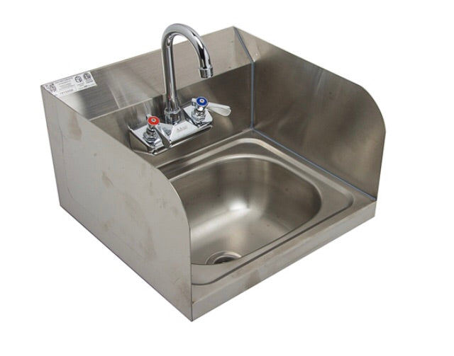 Wall sink with side splash