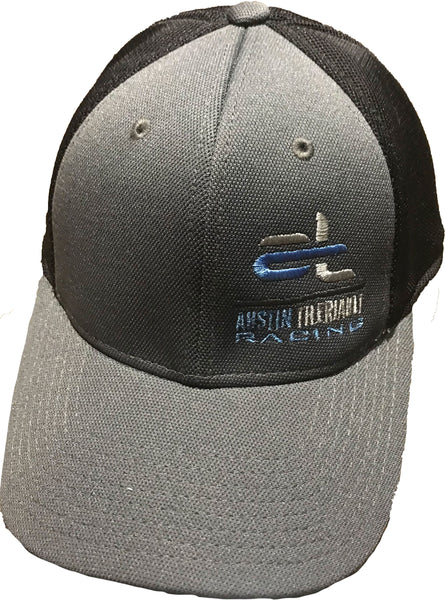 Austin Theriault Fitted Gray and Black Hat