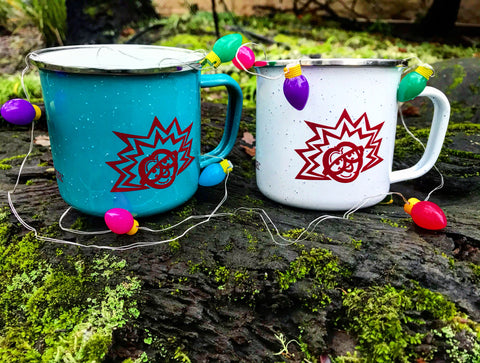 Jingle bells, jingle bells, jingle all the way. Oh, what fun it is to camp with these Tin Cups