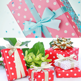 Polka Dot Wrapped Gifts