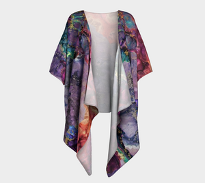 Colors in the Night Design Draped Kimono