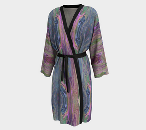 Fluid Rivers Design Peignoir / Long Kimono