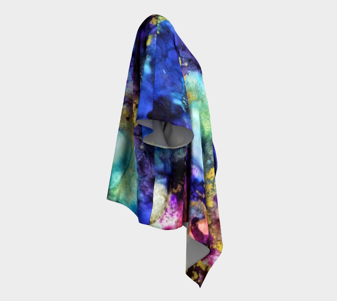 The Blues Design Draped Kimono