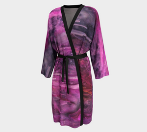 Boston Background Design Peignoir / Long Kimono