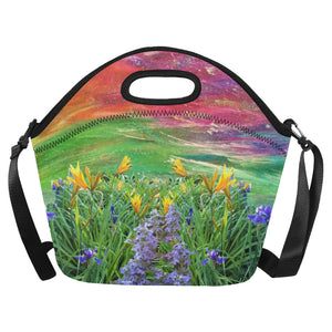Tiger Lily Floral Neoprene Lunch Bag