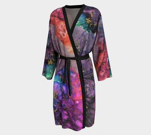 Colors in the Night Design Peignoir / Long Kimono