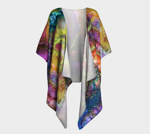 Newport Background Design Draped Kimono