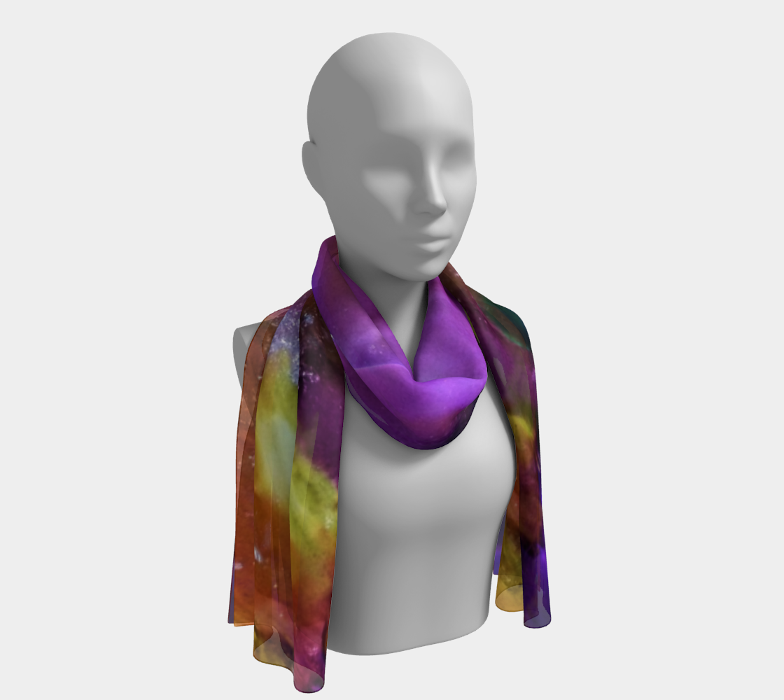 Sunrise 3 Long Draped Scarf or Headwrap