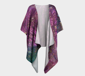 Sun Kissed Design Draped Kimono