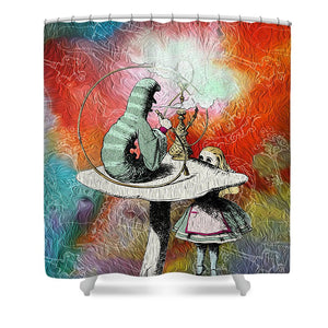 Alice In Wonderland - Caterpillar - Shower Curtain