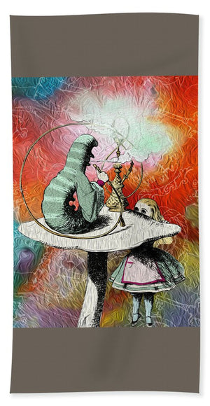 Alice In Wonderland - Caterpillar - Beach Towel