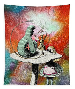 Alice In Wonderland - Caterpillar - Tapestry