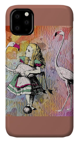 Alice In Wonderland - Flamingos - Phone Case