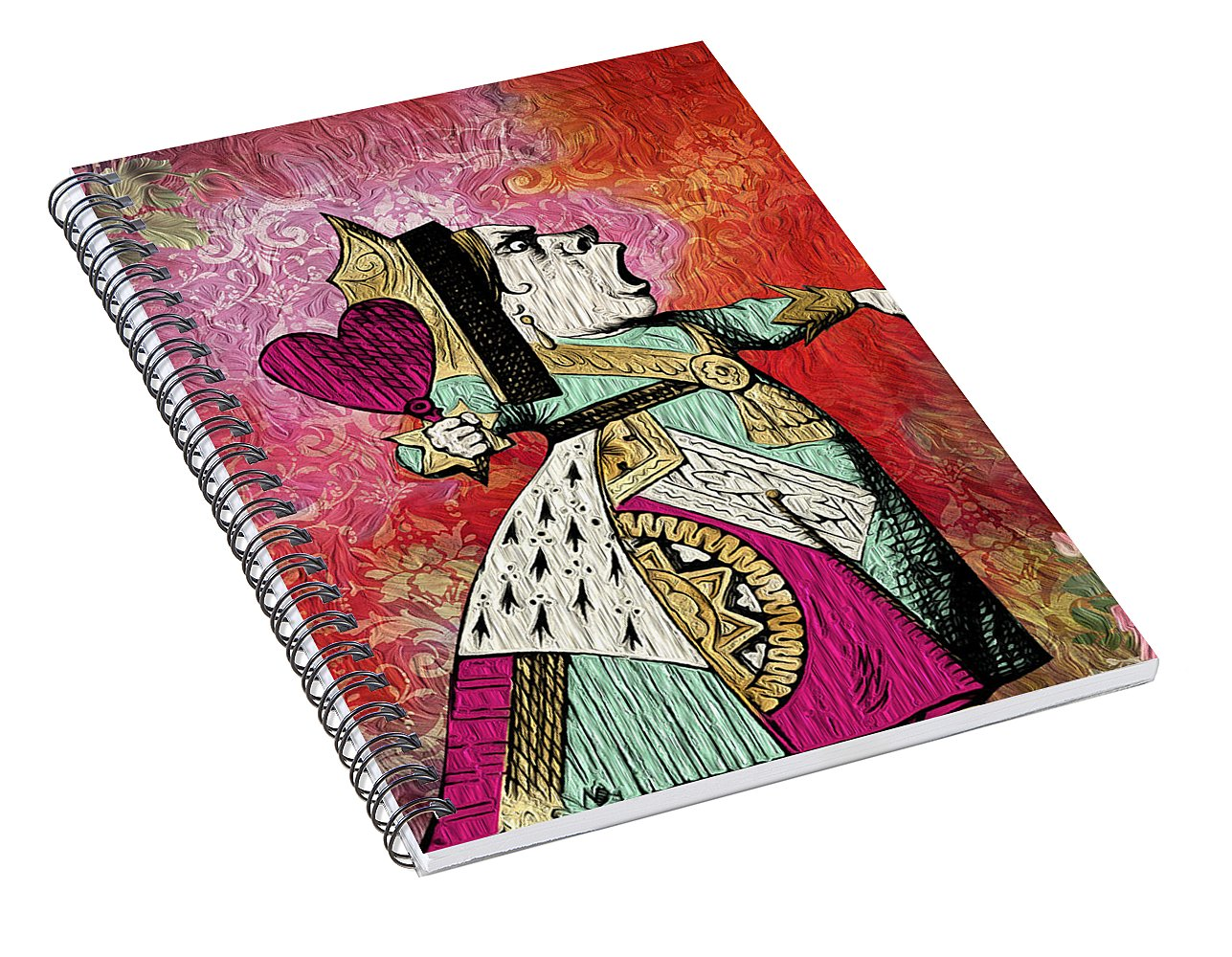 Alice in Wonderland - Queen of Hearts - Spiral Notebook