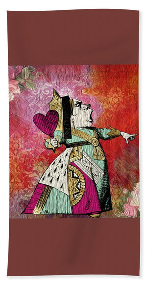Alice in Wonderland - Queen of Hearts - Beach Towel