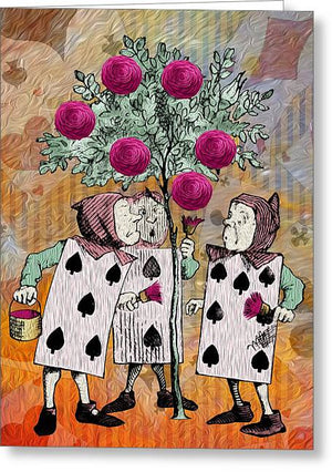Alice In Wonderland - Rose Tree - Greeting Card