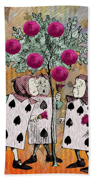 Alice In Wonderland - Rose Tree - Bath Towel