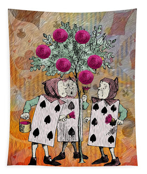 Alice In Wonderland - Rose Tree - Tapestry