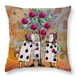 Alice In Wonderland - Rose Tree - Throw Pillow