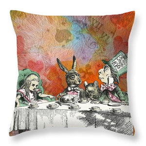 Alice In Wonderland - Tea Party - Throw Pillow