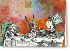 Alice In Wonderland - Tea Party - Greeting Card