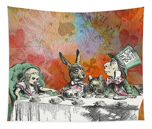 Alice In Wonderland - Tea Party - Tapestry