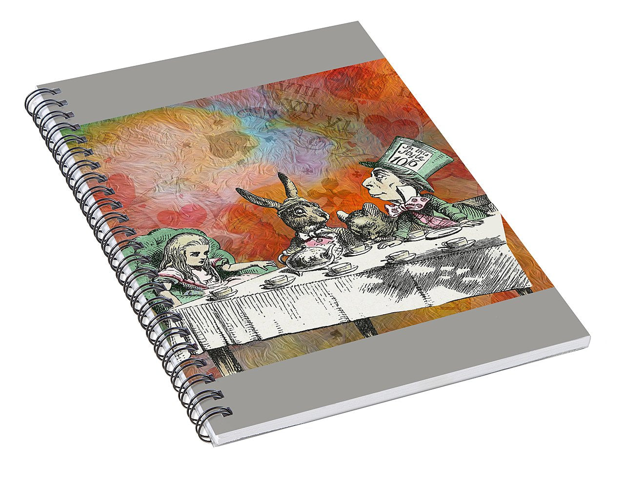 Alice In Wonderland - Tea Party - Spiral Notebook